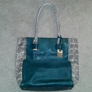 Kenneth Cole Sturdy Leather Tote Bag